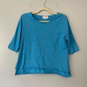 Indigenous Peru Organic Cotton Blue Layer Top